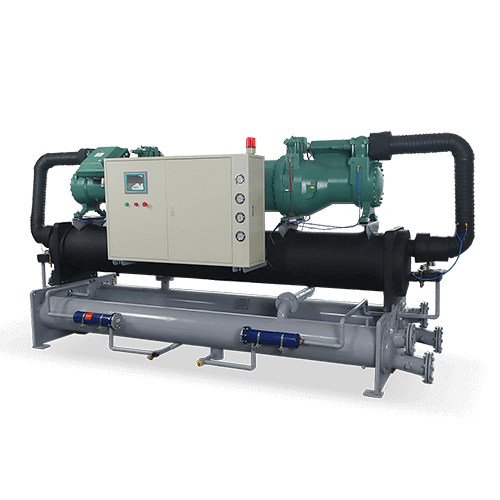 Double compressor large industrial chiller